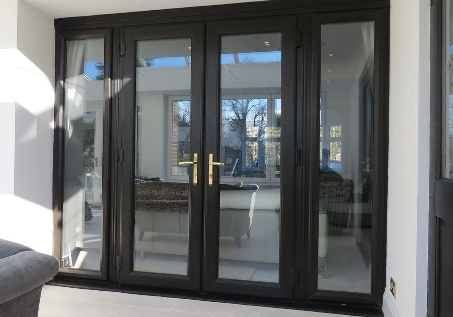 black front double glazed upvc doors for your homes