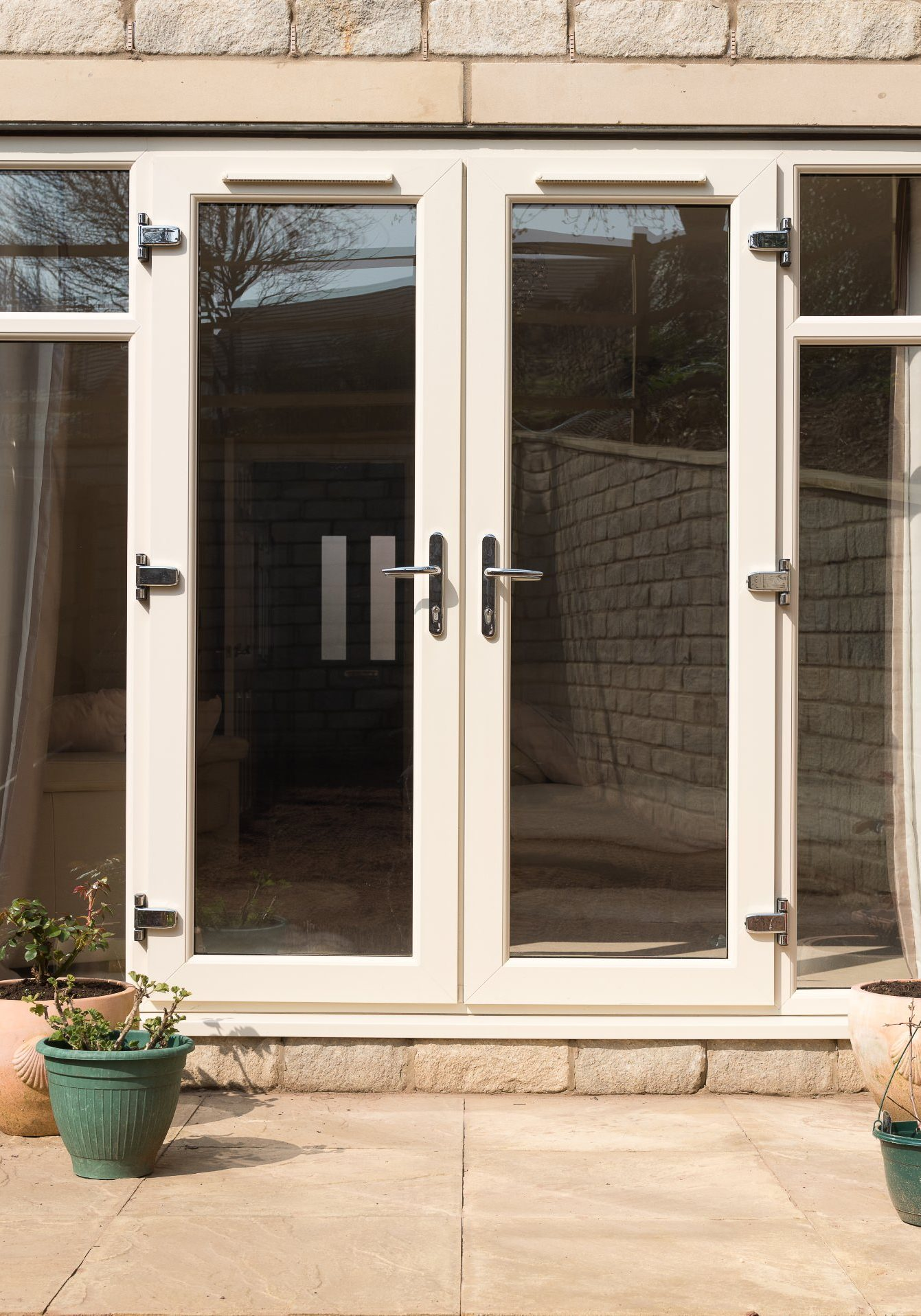 upvc french doors with side oopening windows